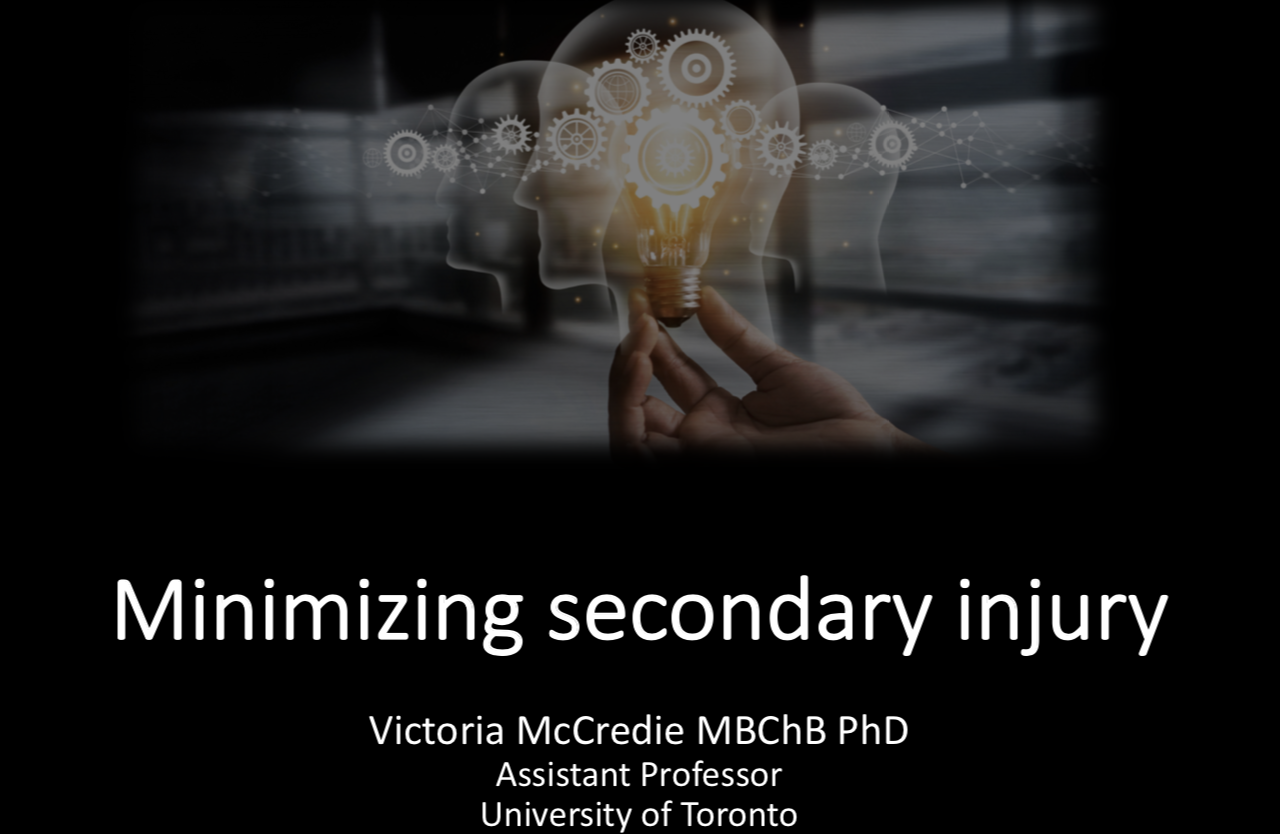 Minimizing secondary brain injury at the bedside #ISICEM19