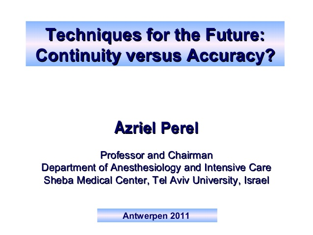 Azriel Perel - Techniques for the Future - IFAD 2011