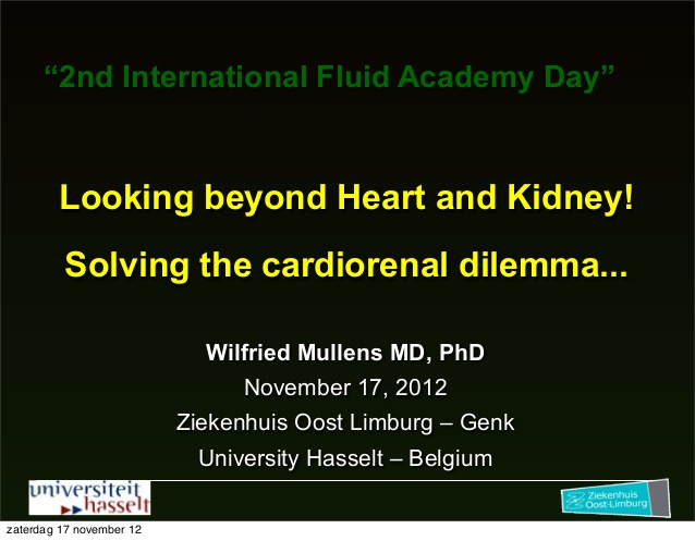 Wilfried Mullens - The kidney fluid academy - IFAD 2012