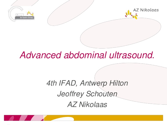 Advanced abdominal ultrasound.