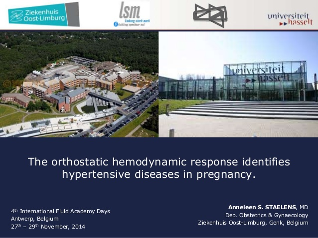 The orthostatic hemodynamic response identifies hypertensive diseases in pregnancy.