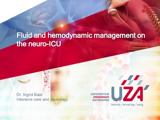Fluid and hemodynamic management on the neuro-ICU