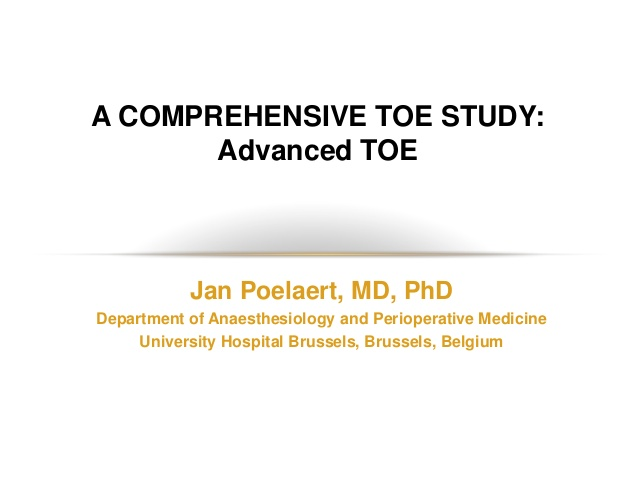 A COMPREHENSIVE TOE STUDY: Advanced TOE