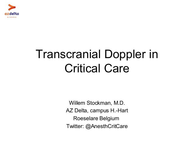 Transcranial Doppler in Critical Care