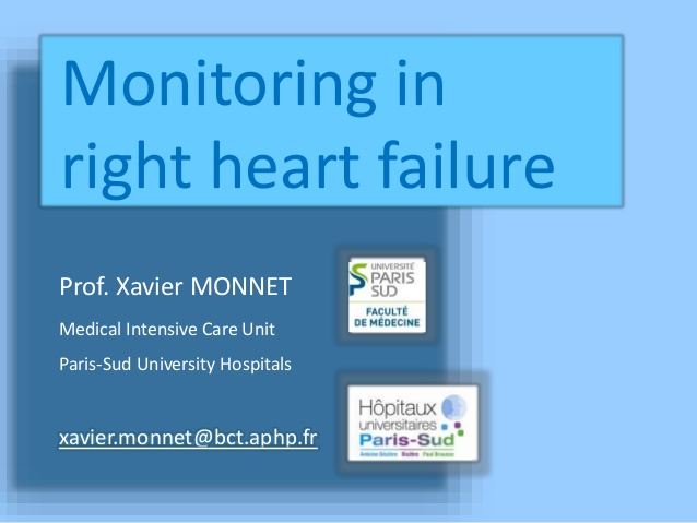 Monitoring in right heart failure