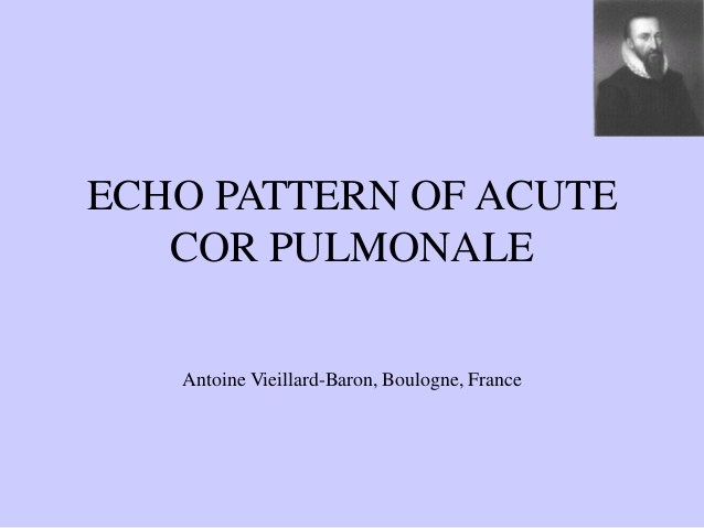 ECHO PATTERN OF ACUTE COR PULMONALE