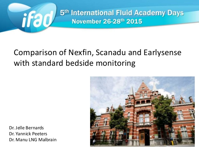 Comparison of nexfin, scanadu and earlysense with standard bedside monitoring