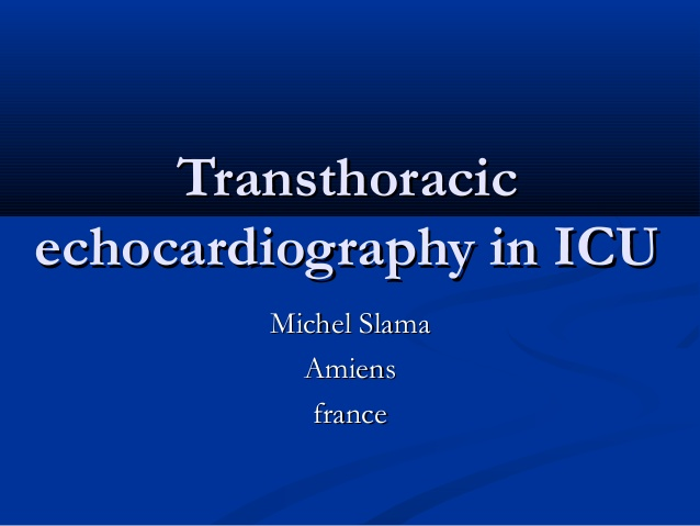 Transthoracic echocardiography in ICU
