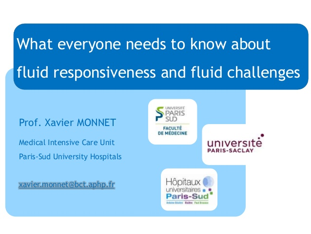 What everyone needs to know about fluid responsiveness and fluid challenges