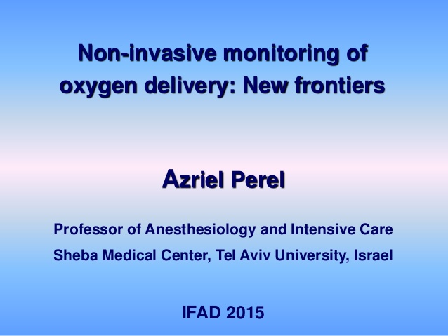 Non-invasive monitoring of oxygen delivery