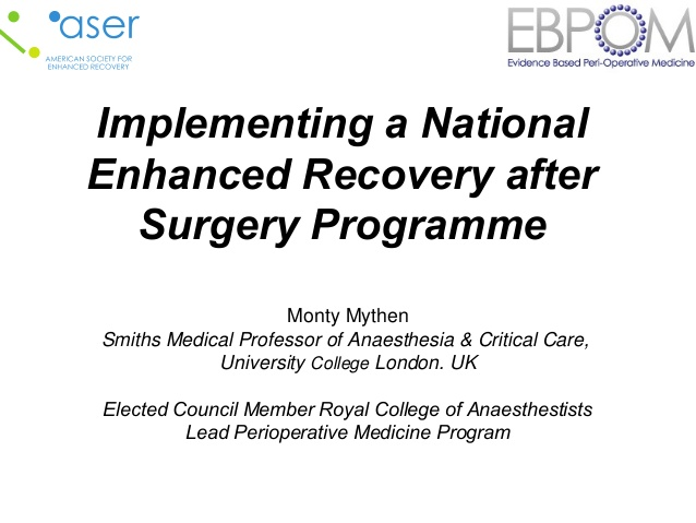 Implementing a National Enhanced Recovery after Surgery Programme