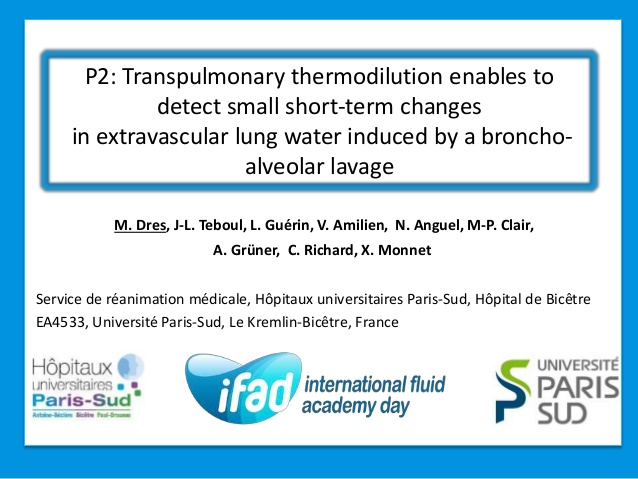 P2: Transpulmonary thermodilution enables to detect small short-term changes in extravascular lung water induced by a broncho-alveolar lavage