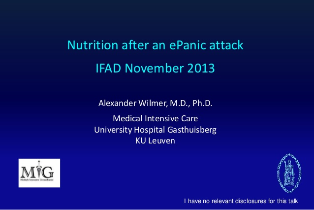 Nutrition after an ePanic attack