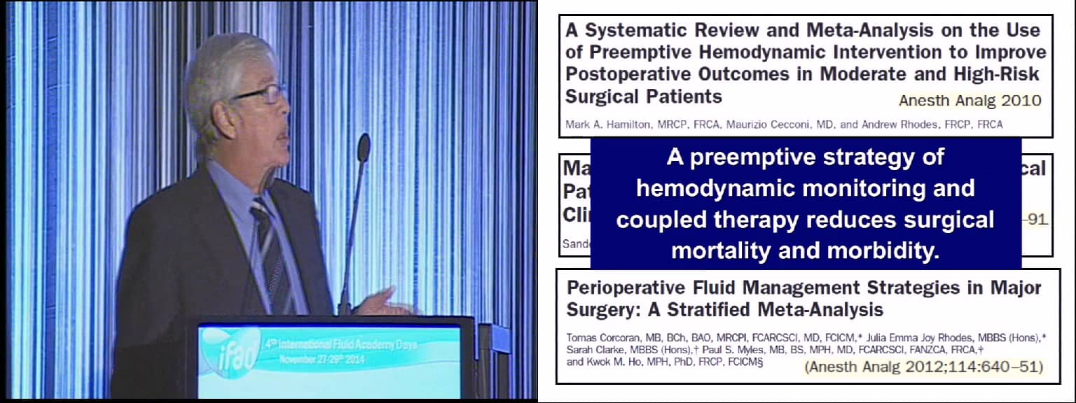 Rational peri-operative goal directed therapy