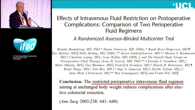 Perioperative fluid management - how restrictive should we go