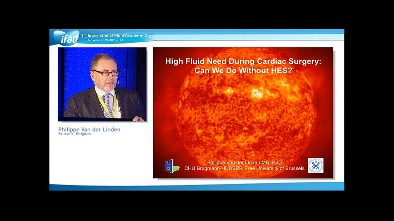 Philippe Van der Linden - Fluids in Cardiac Surgery