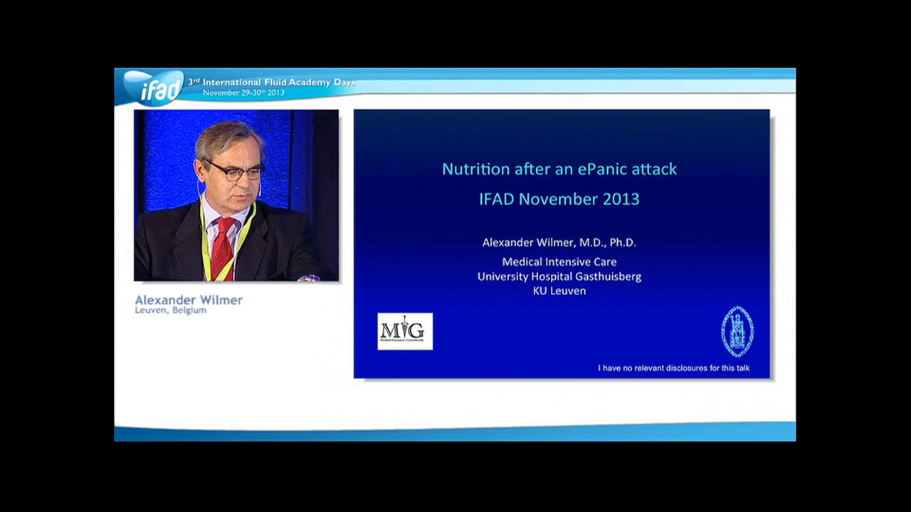 Alexander Wilmer - Nutrition after an ePanic Attack