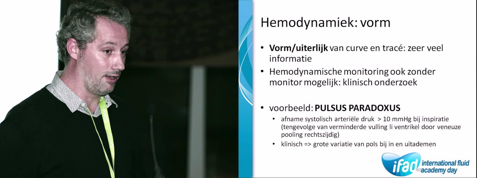 The abnormal hemodynamic parameters