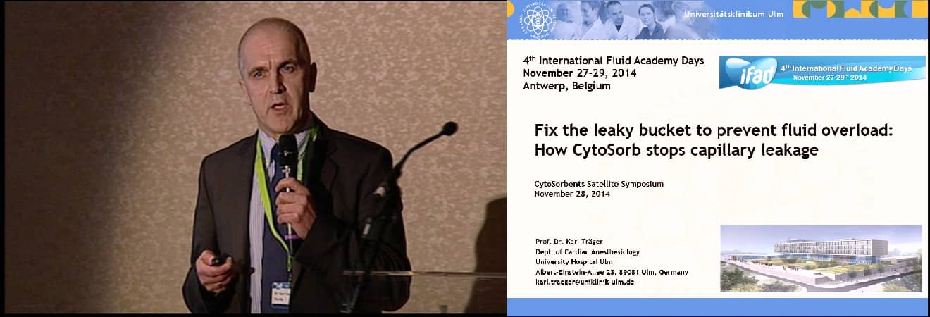 Fix the leaky bucket to prevent fluid overload: How CytoSorb stops capillary leakage