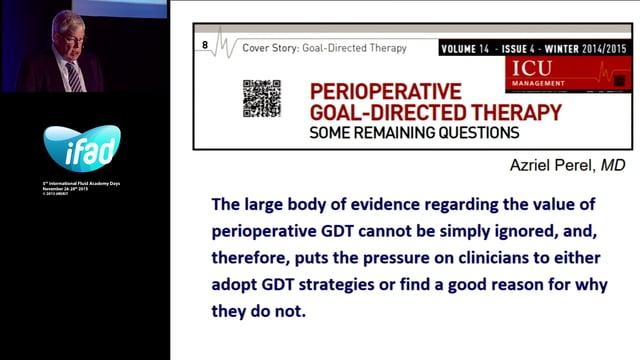 PRO-CON Debate Perioperative Goal Directed Therapy - CON