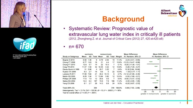 Conventional Chest X-ray versus extra vascular lungwater index