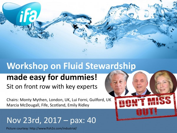 Workshop on fluid stewardship