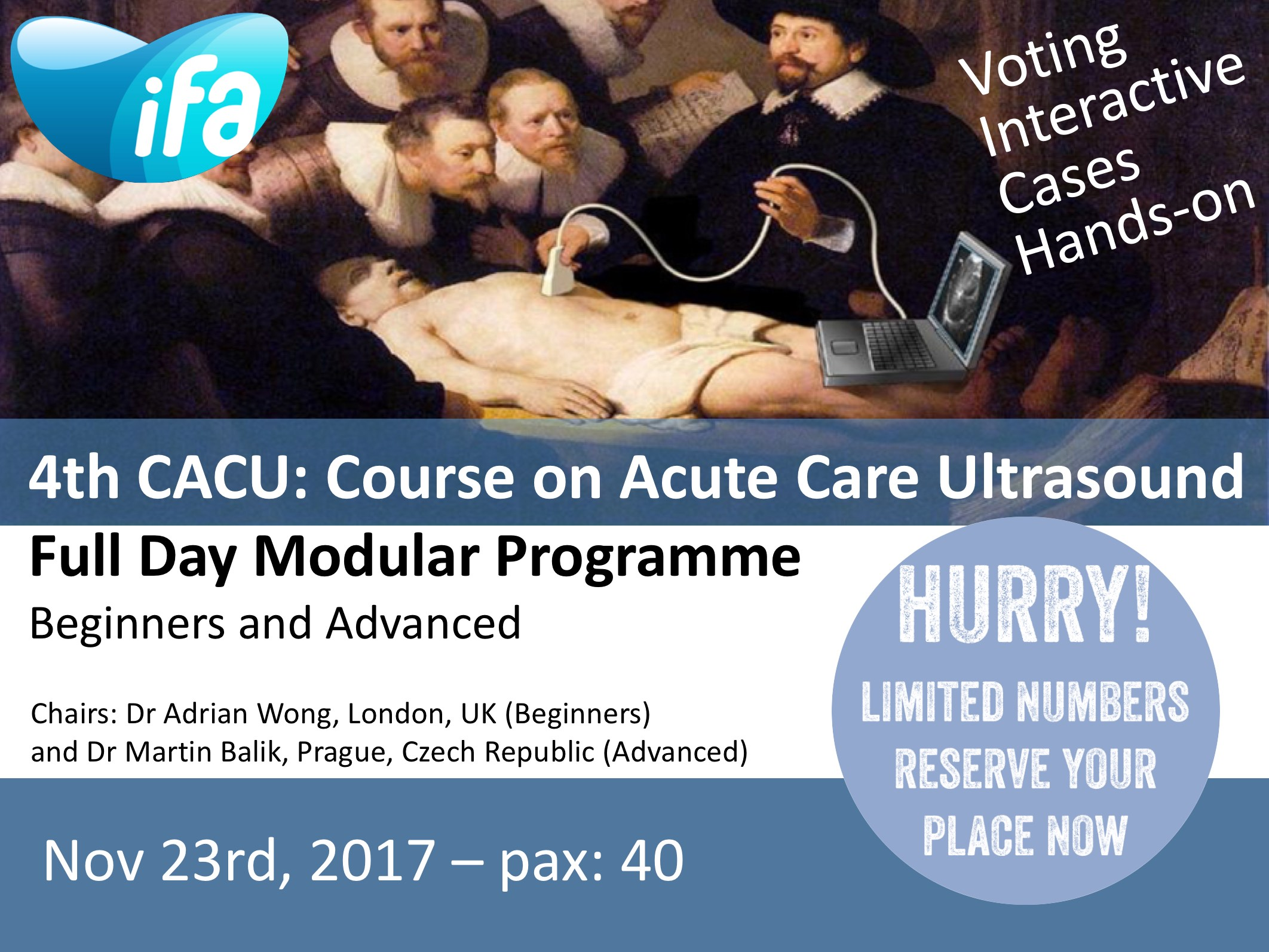 4th CACU: Course on Acute Care Ultrasound