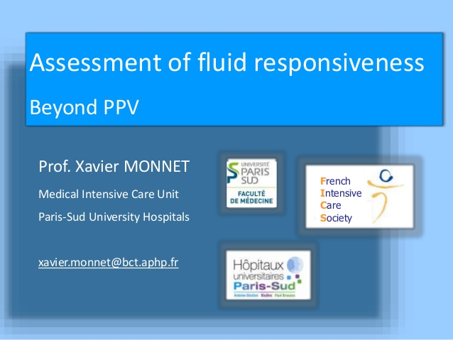 Assessment of fluid responsiveness Beyond PPV