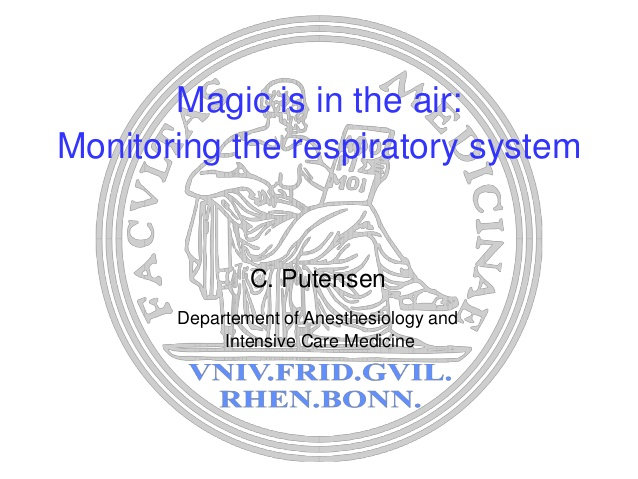 Christian Putensen - Monitoring the respiratory system - IFAD 2012