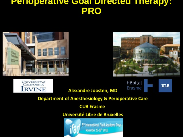 Perioperative Goal Directed Therapy: PRO