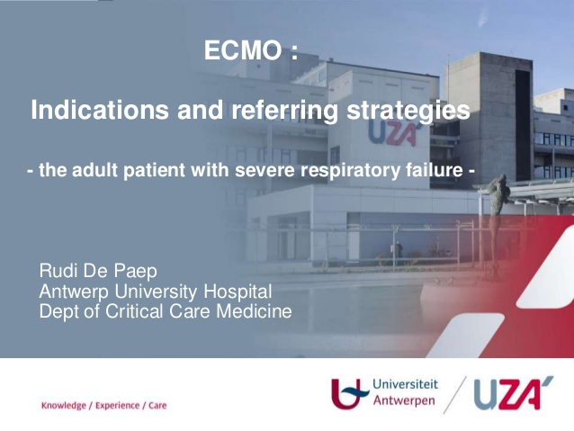 Ecmo indications and referral 2013