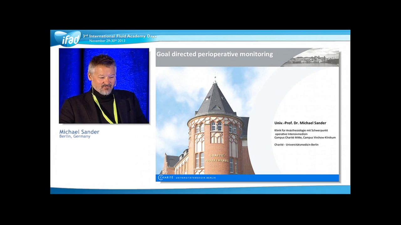 Michael Sander - Perioperative Fluid Management