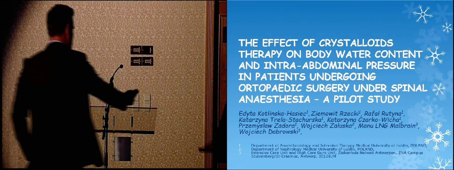 The effect of crystalloid therapy on body water content and intraabdominal pressure in patients undergoing orthopaedic surgery under spinal anaesthesia: A pilot study
