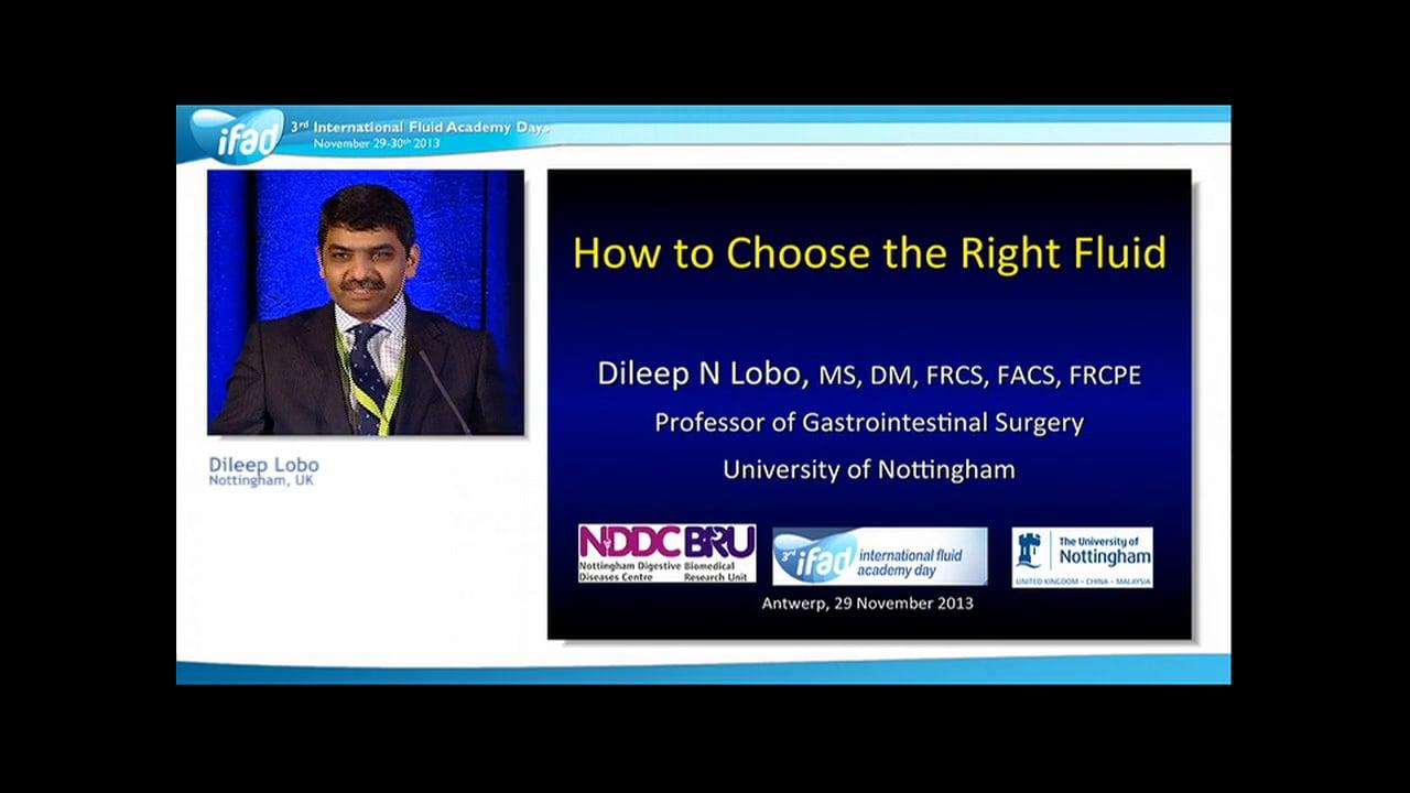 Dileep N Lobo - Right Fluid
