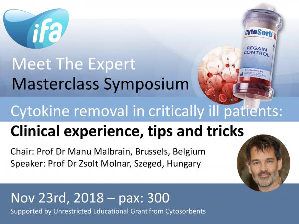 Satellite Masterclass Symposium on Blood Purification